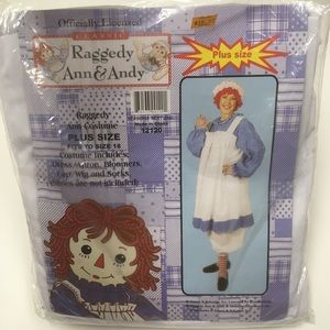 Raggedy Ann plus size costume new up to size 18